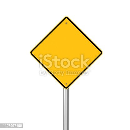 Warning sign blank isolated