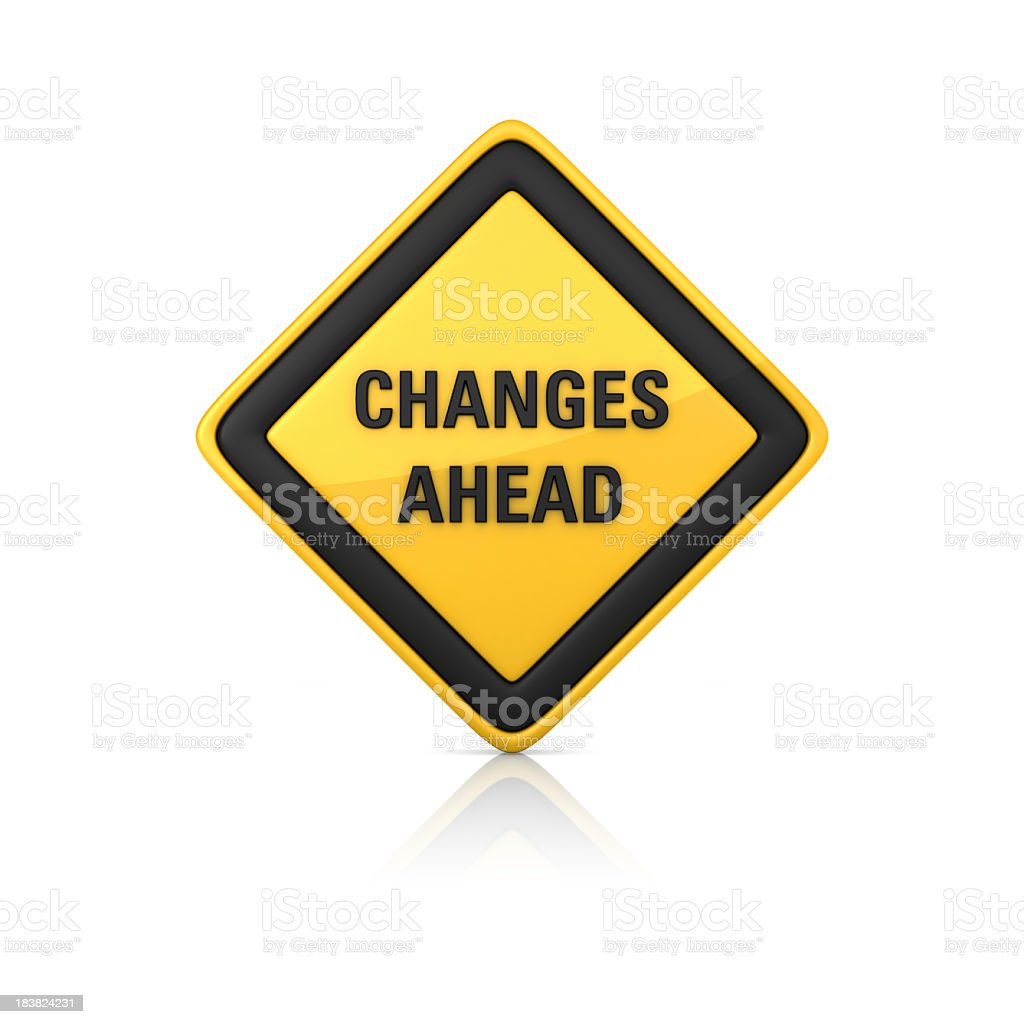 Warning Sign - CHANGES AHEAD royalty-free stock photo