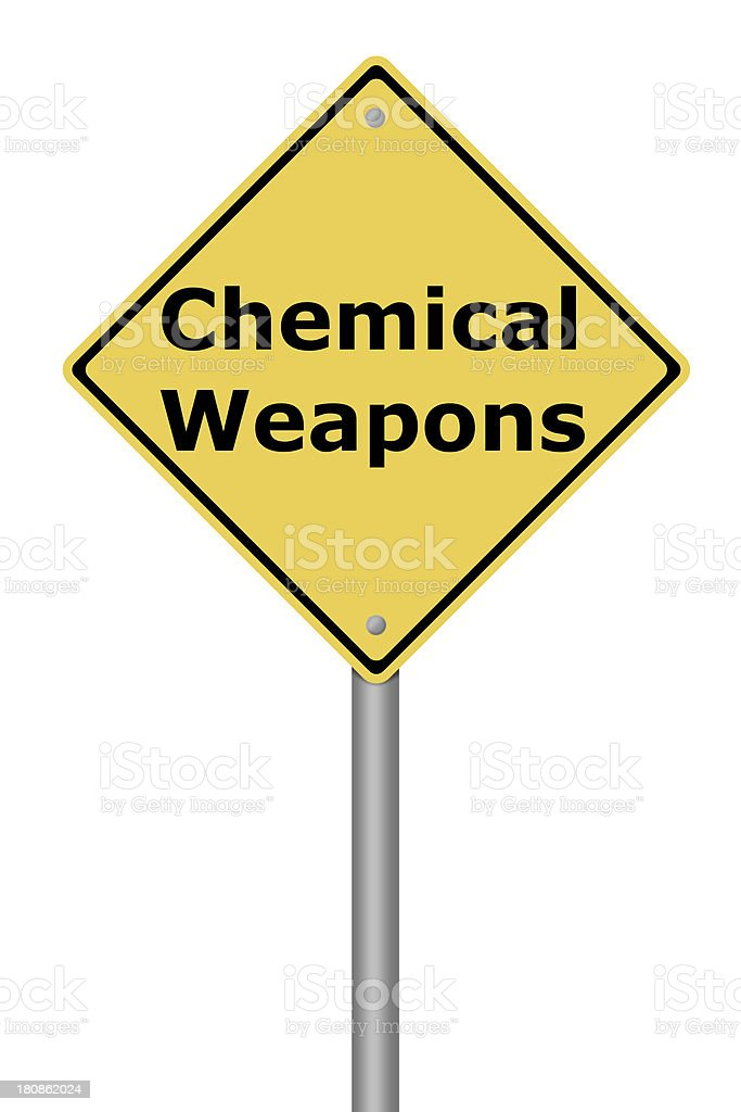 Warning Sign Chemical Weapons royalty-free stock photo