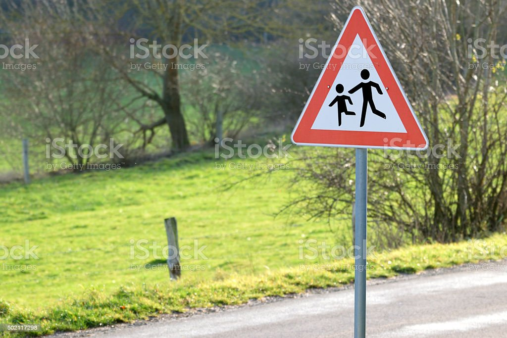 Warnschild Kinder! stock photo