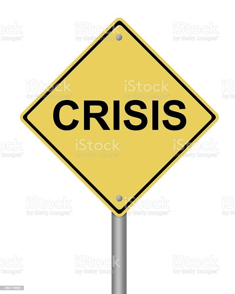 Warning Sign Crisis royalty-free stock photo