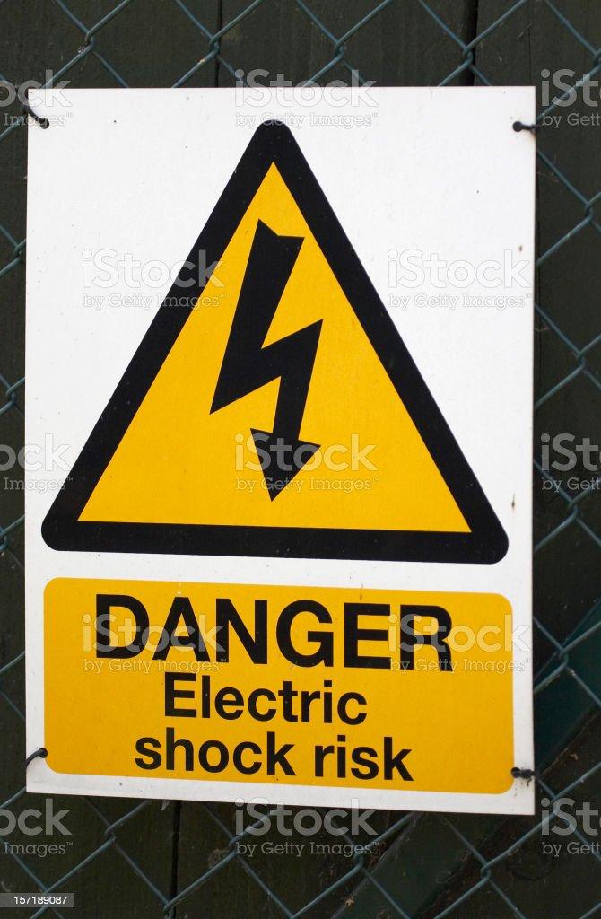 Warning sign electric shock royalty-free stock photo