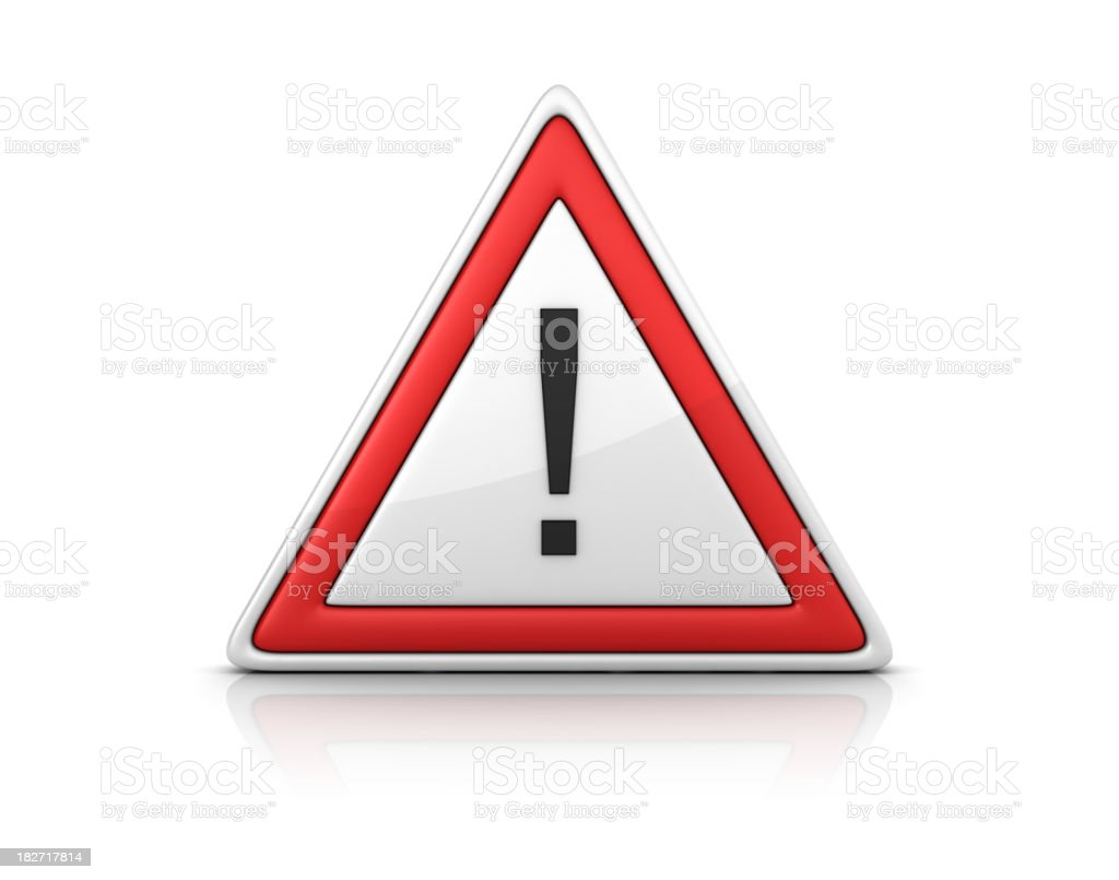 Warning Sign - EXCLAMATION POINT royalty-free stock photo