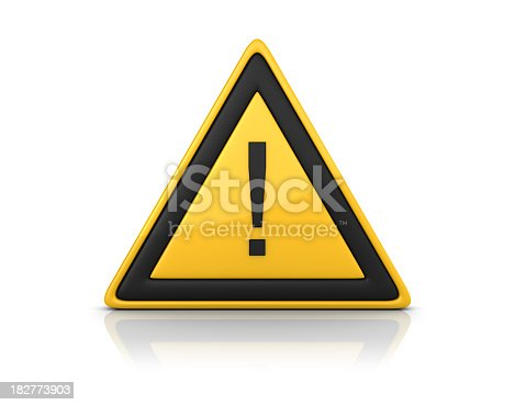 istock Warning Sign - EXCLAMATION POINT 182773903