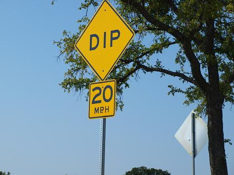 Warning Sign Of Road Hazard Ahead Stock Photo - Download ...