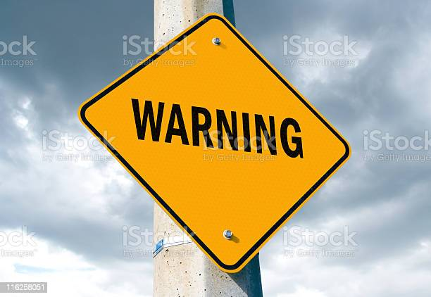 Warning Sign Stock Photo - Download Image Now