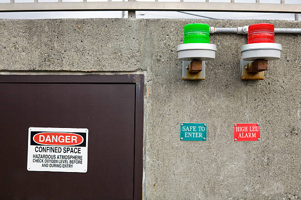 Warning Sign Warning sign and symbols.  View my confined space stock pictures, royalty-free photos & images