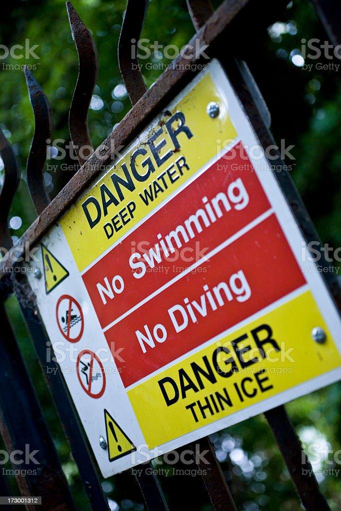 Warning sign. royalty-free stock photo
