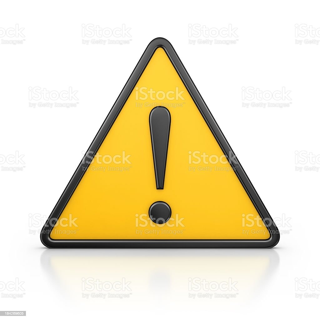 warning sign royalty-free stock photo