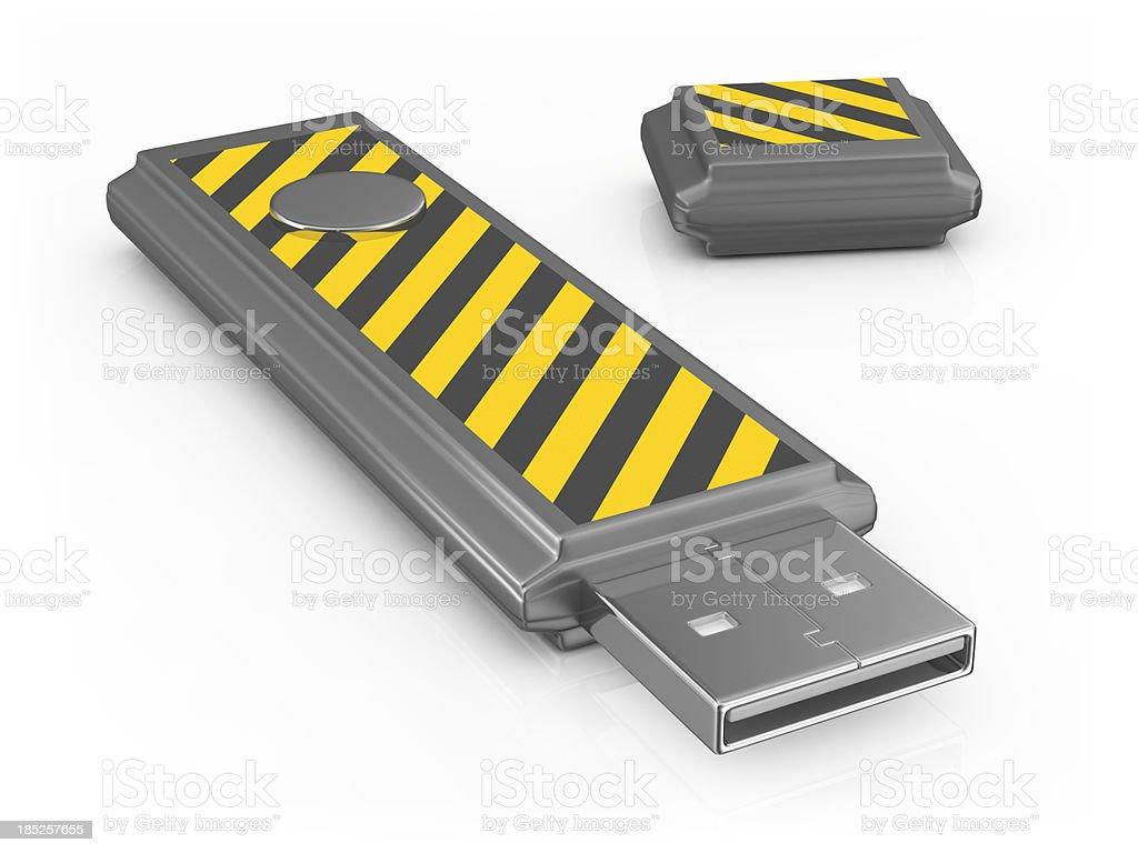 USB - Warning Sign royalty-free stock photo