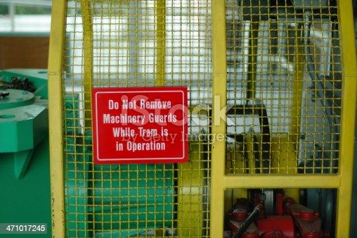 A warning sign saying