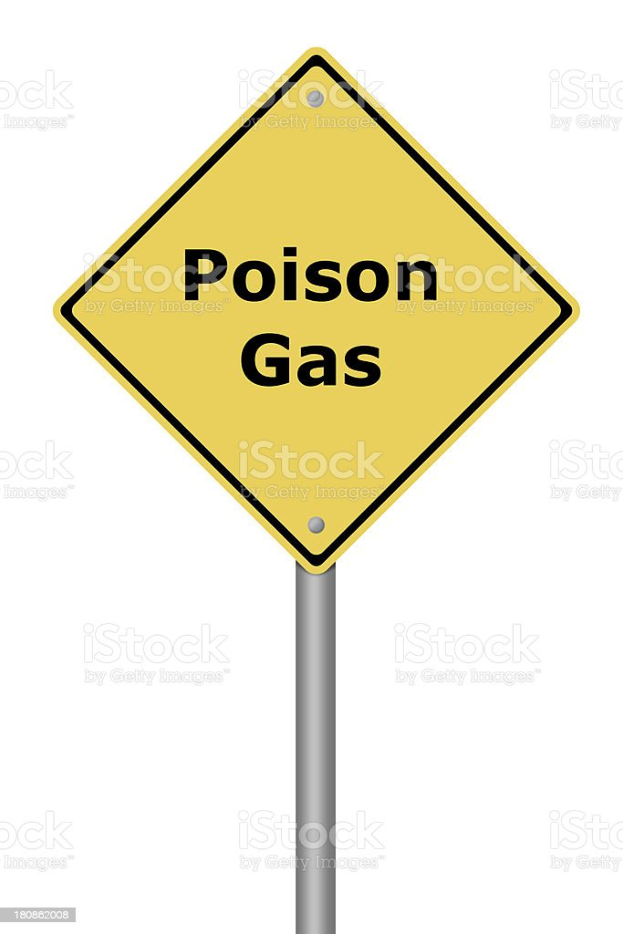 Warning Sign Poison Gas royalty-free stock photo