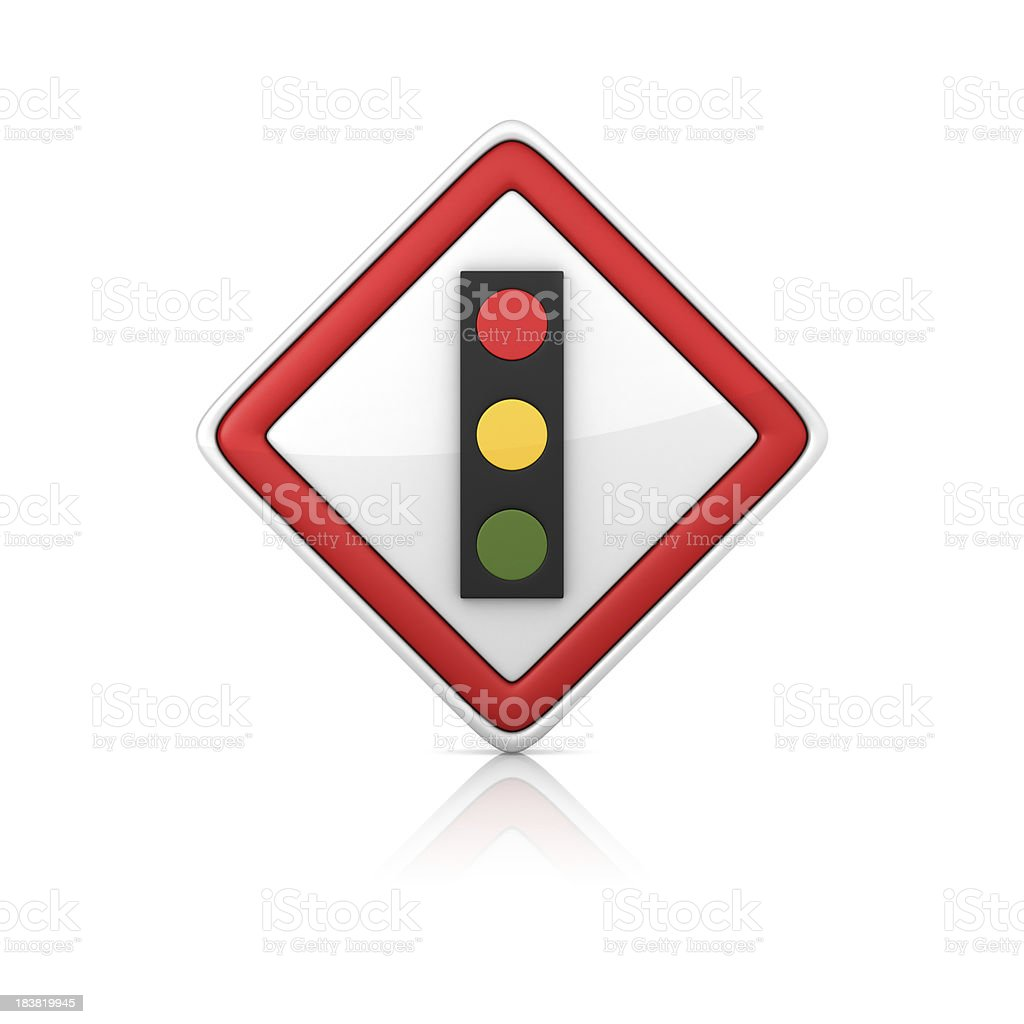 Warning Sign - TRAFFIC LIGHT royalty-free stock photo