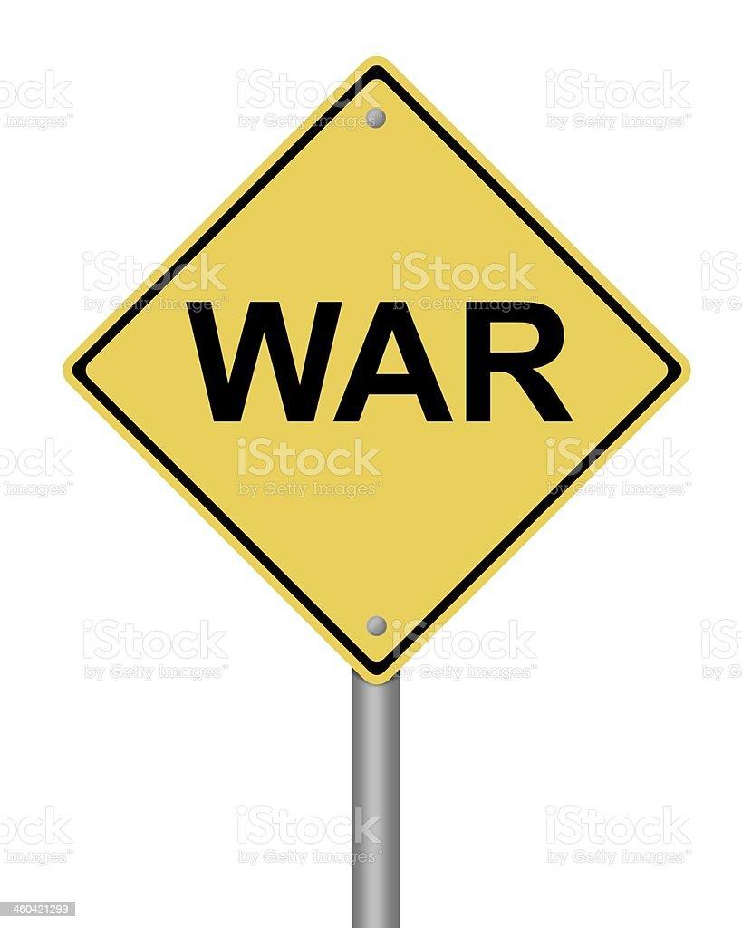 Warning Sign War royalty-free stock photo