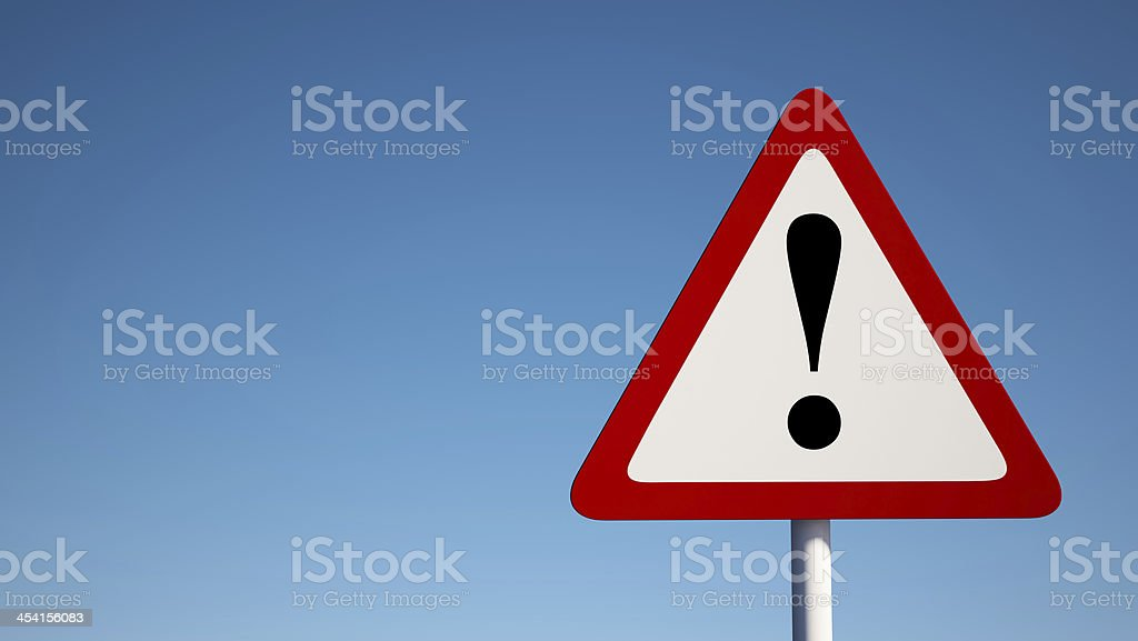 Warning Sign with Clipping Path stock photo