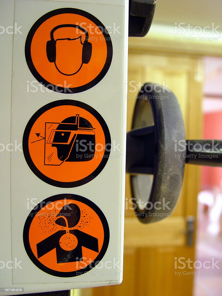 Warning signs stock photo
