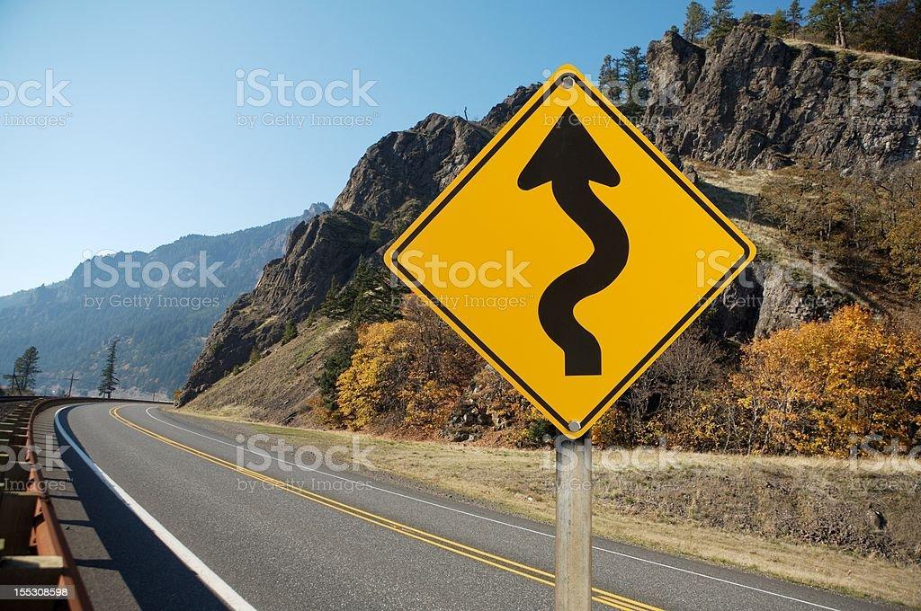 warning traffic sign stock photo
