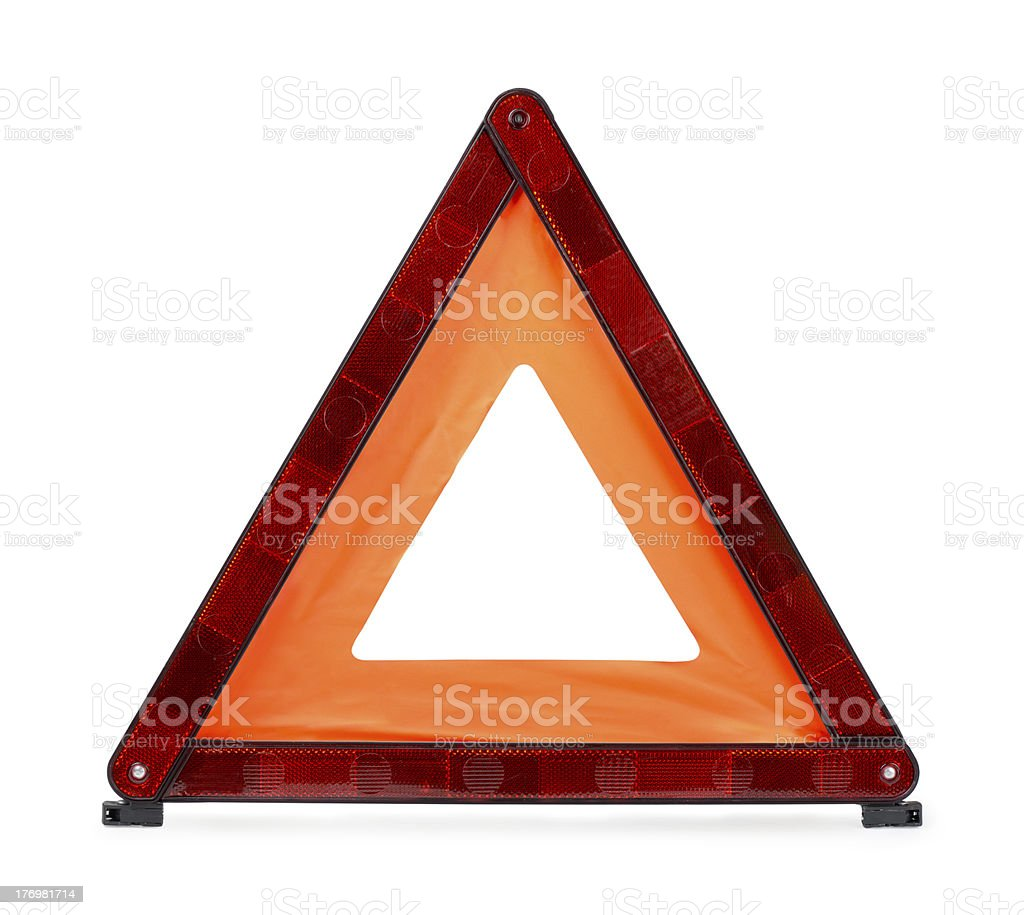 Warning triangle royalty-free stock photo