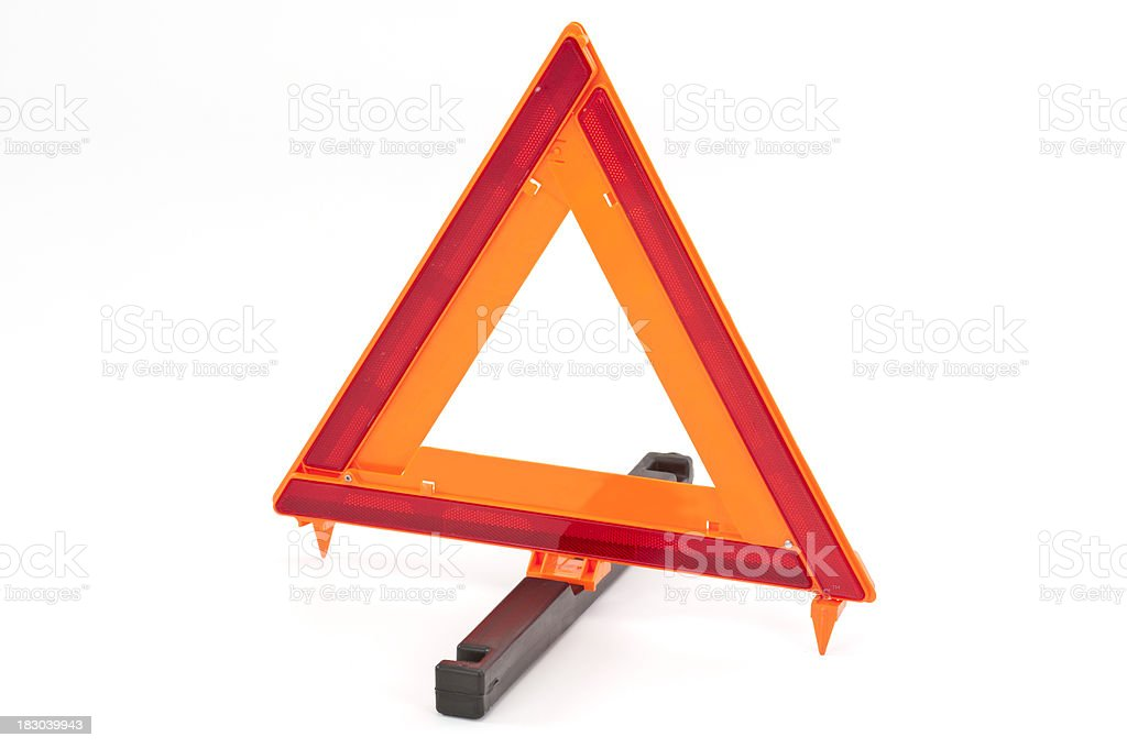 Warning Triangle royalty-free stock photo