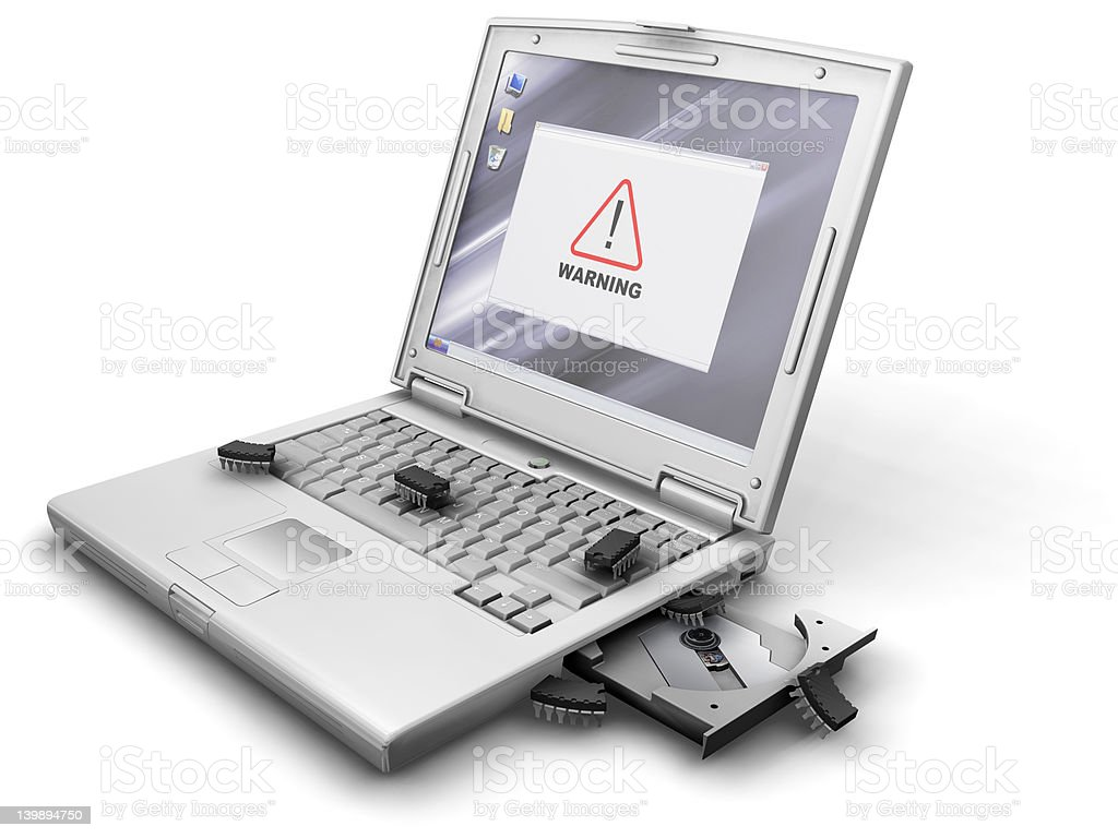 Warning virus detected royalty-free stock photo