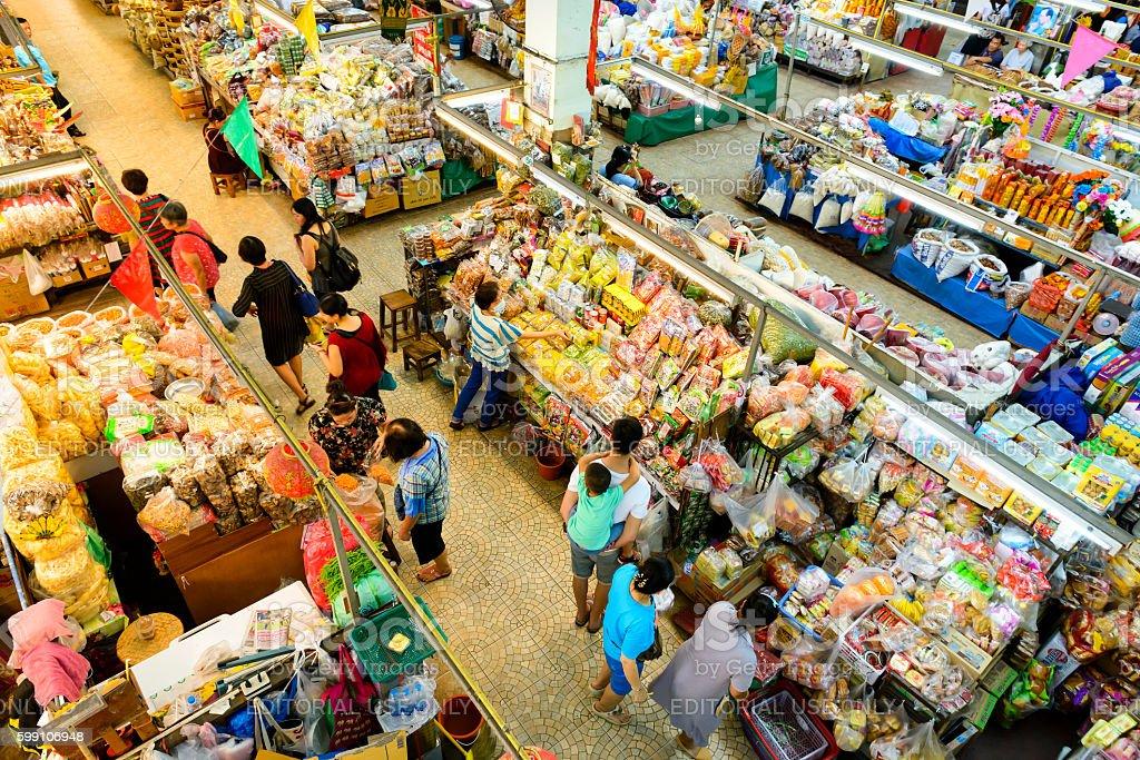 Warorot indoor market stock photo