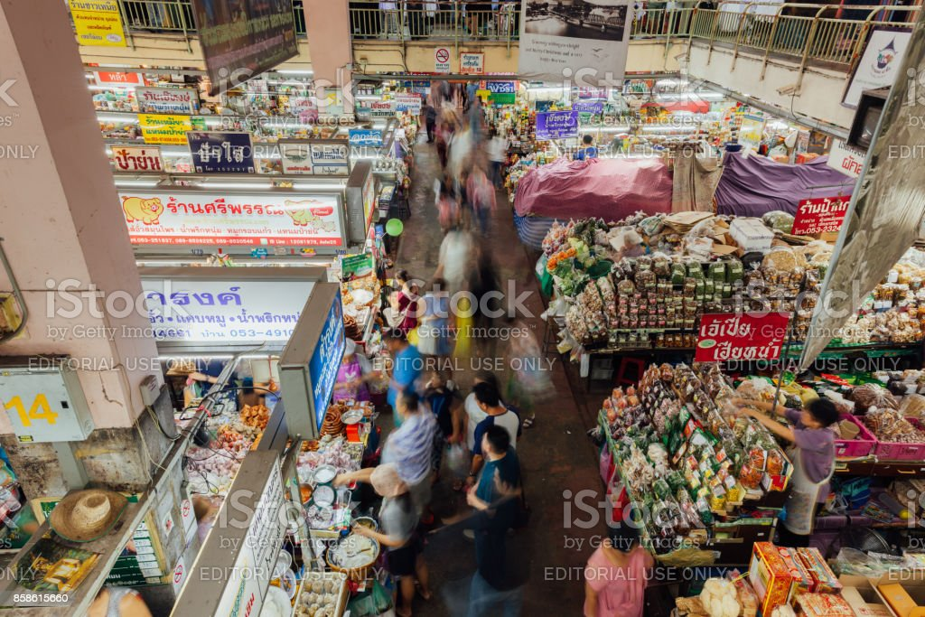 Warorot market, Chiang Mai, Thailand stock photo