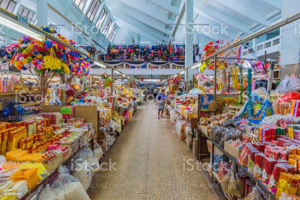 Warorot Market in Chiang Mai stock photo