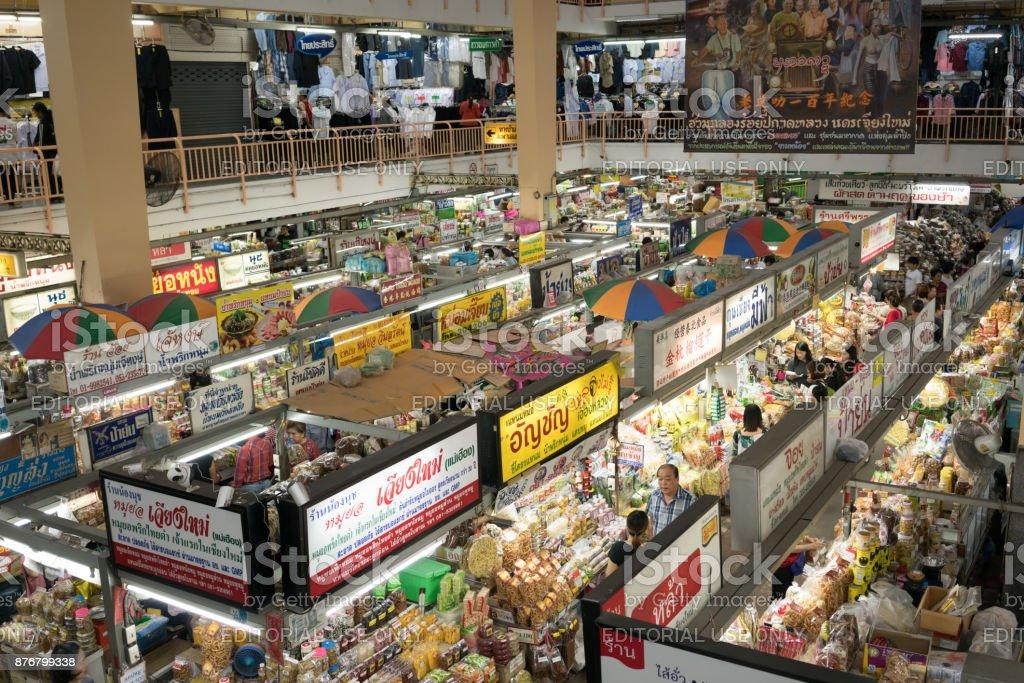 Warorot market in Chiang Mai, Thailand stock photo