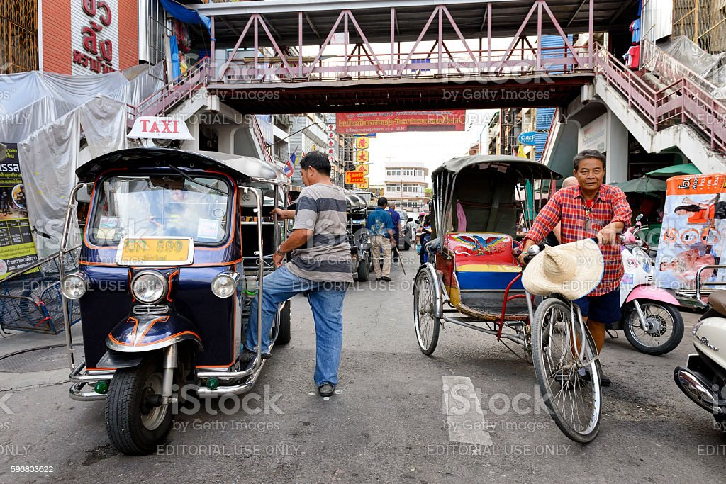Warorot market stock photo