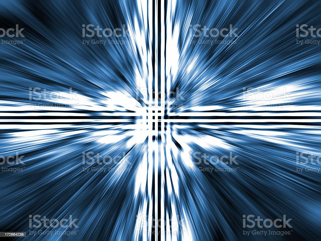 Warp Speed royalty-free stock photo