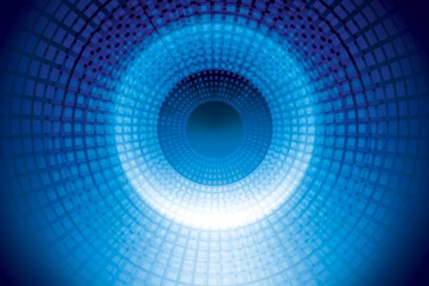 tunnel de chaîne - cercle concentrique photos et images de collection