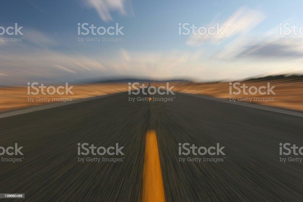 warped highway royalty-free stock photo