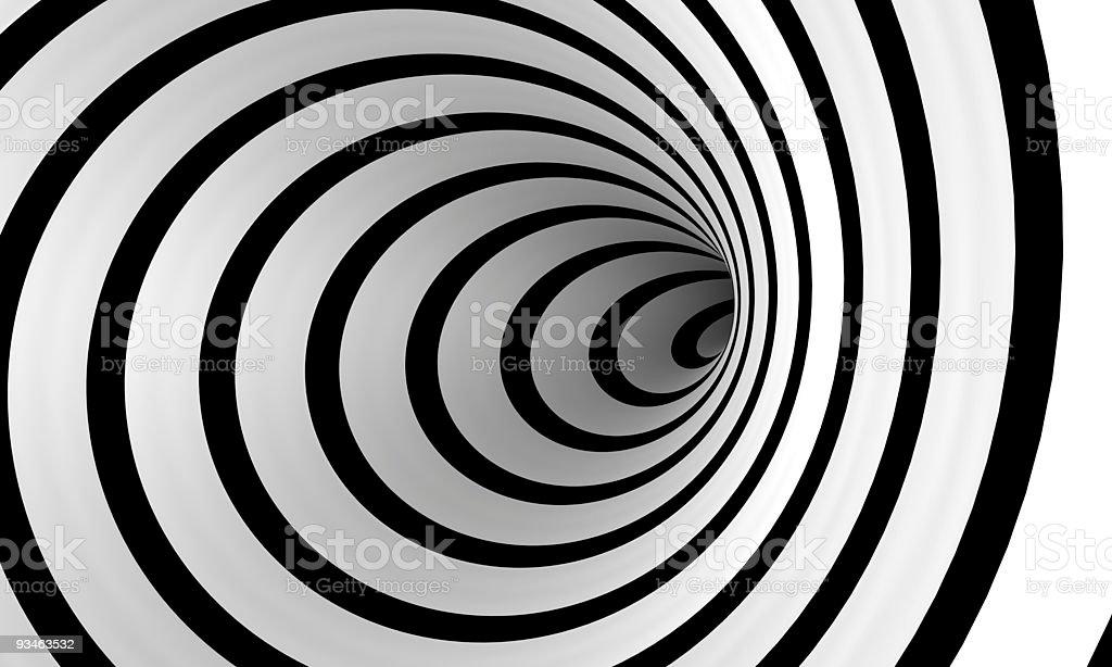 Warped spiral stock photo