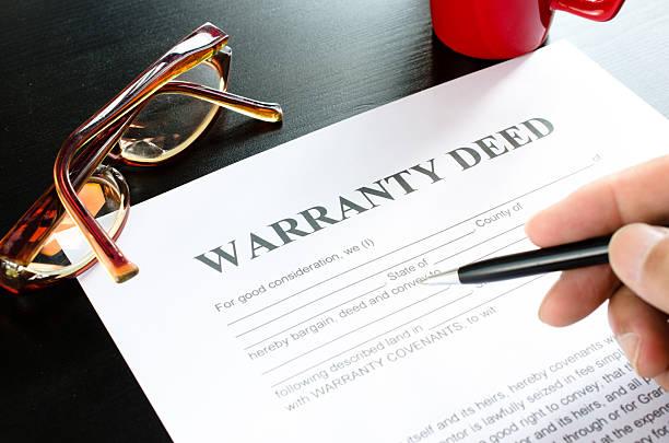 warranty deed stock photo