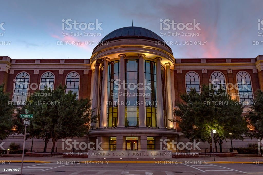 Warren County Justice Center at sunset stock photo