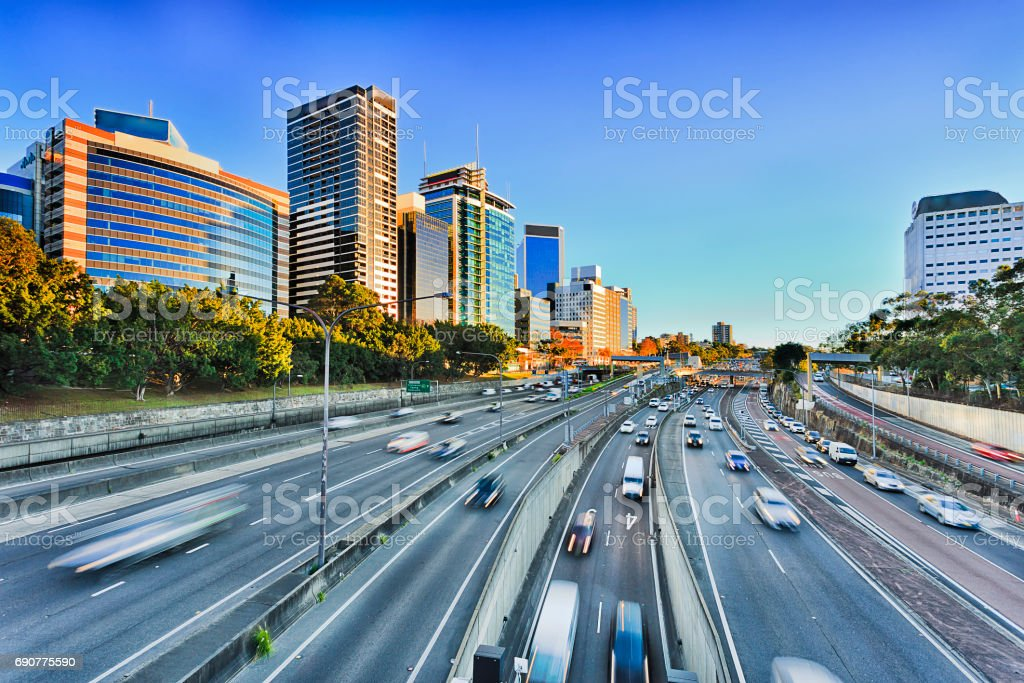 FWY Warringah 2 N Syd Wide stock photo