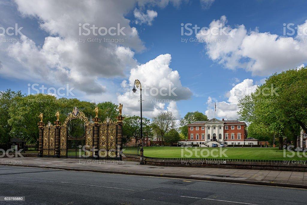 Warrington Town Hall (England) stock photo