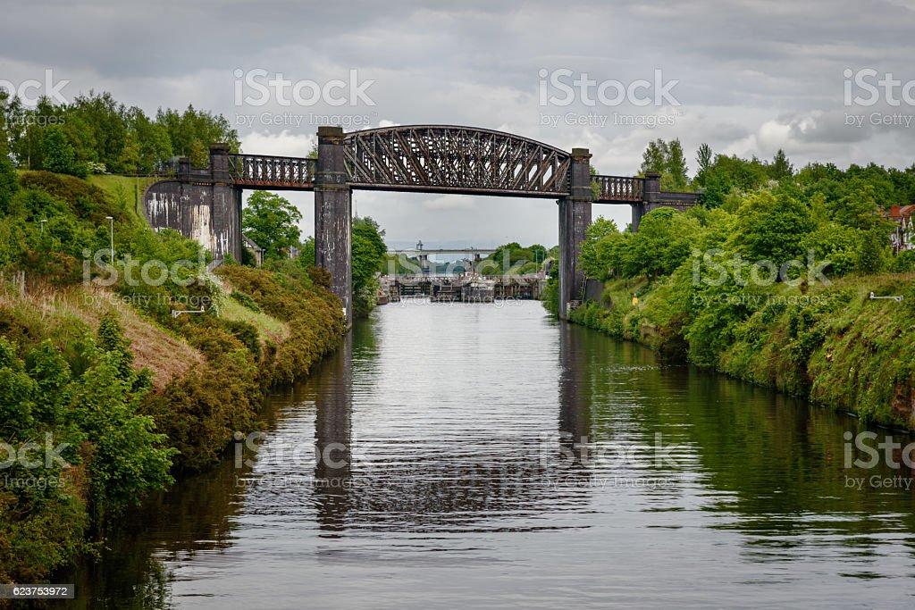 Warrington Viaduct stock photo