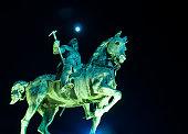 Warrior king statue