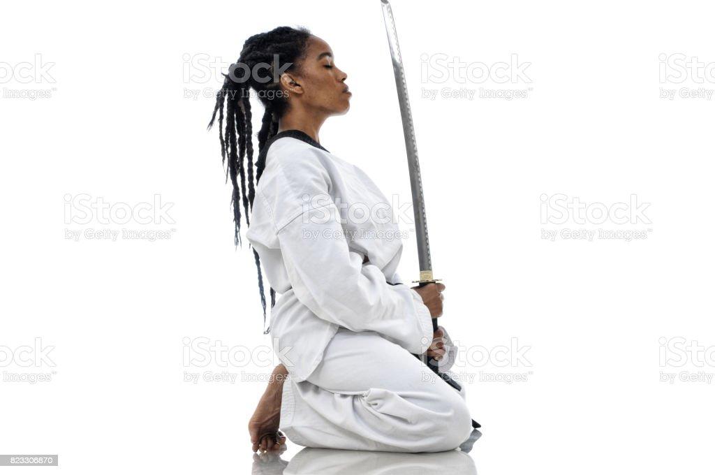Warrior Mindset royalty-free stock photo