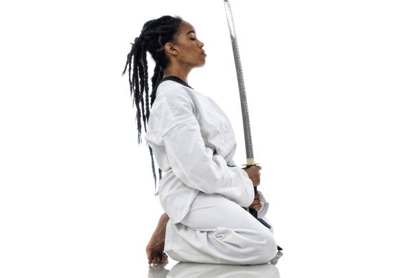 warrior mindset - martial arts gerville stock photos and pictures