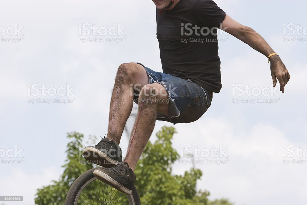 BMX guerriero foto stock royalty-free