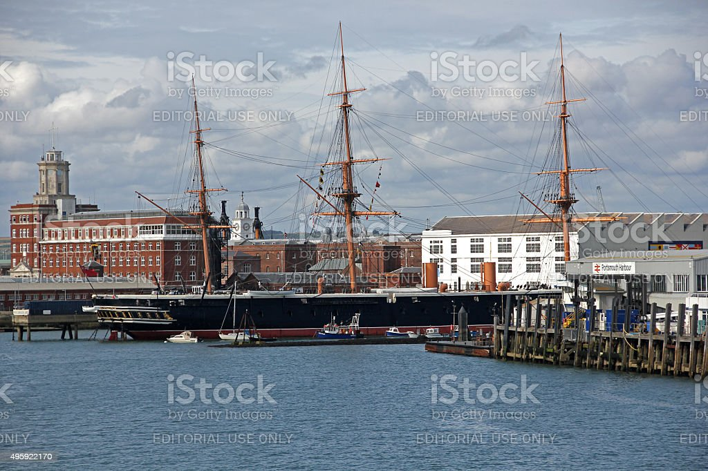HMS Warrior, Portsmouth, UK stock photo