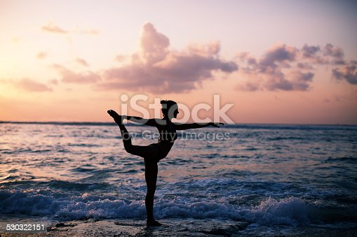 istock warrior pose from yoga 530322151