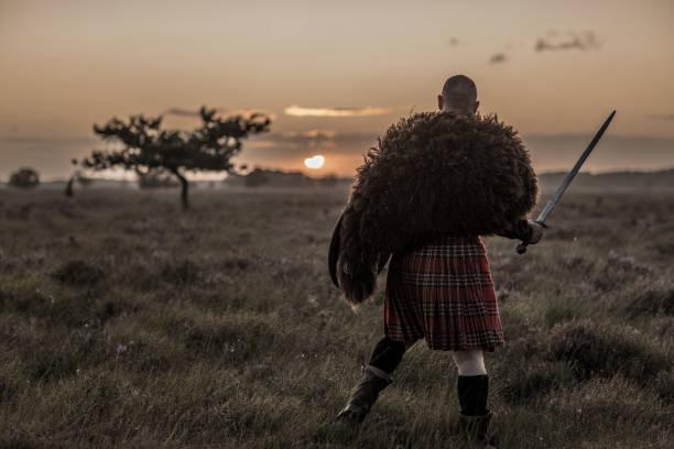 Krieger trägt einen Kilt – Foto