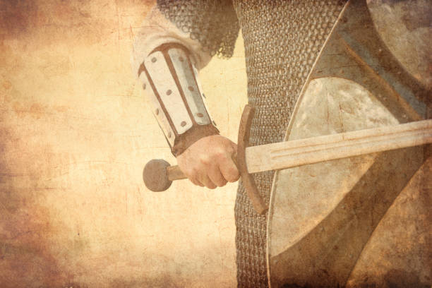 warrior with sword - renaissance style stock photos and pictures