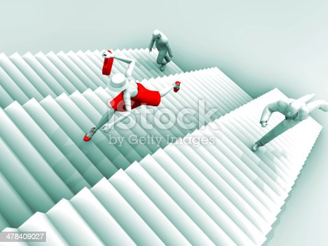 513121118istockphoto Warrior Woman and Business Stairs 478409027