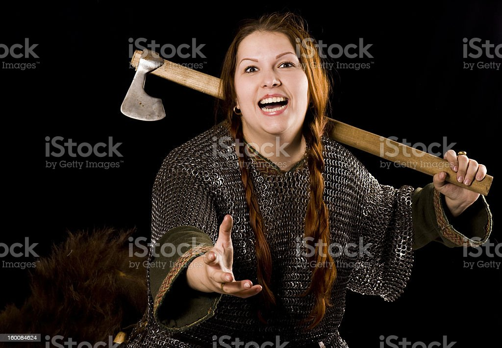 Warrior woman royalty-free stock photo