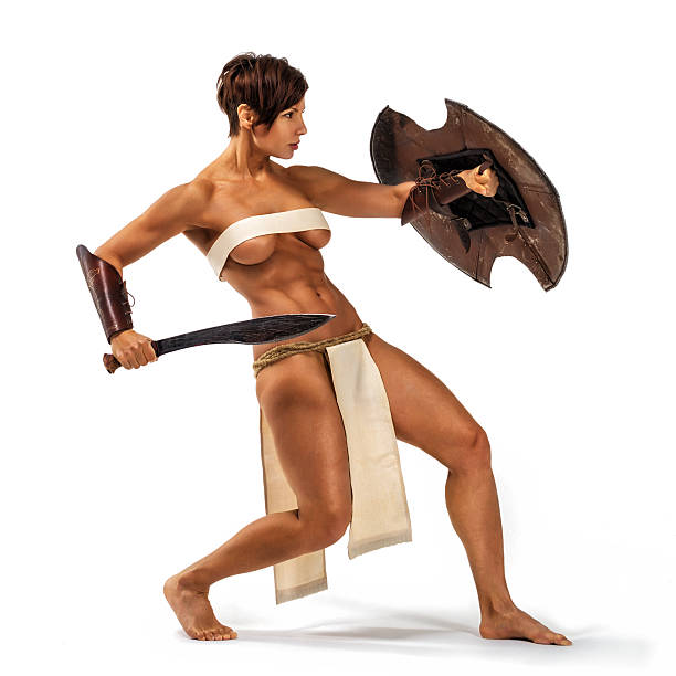 warrior woman - warrior person stock pictures, royalty-free photos & images