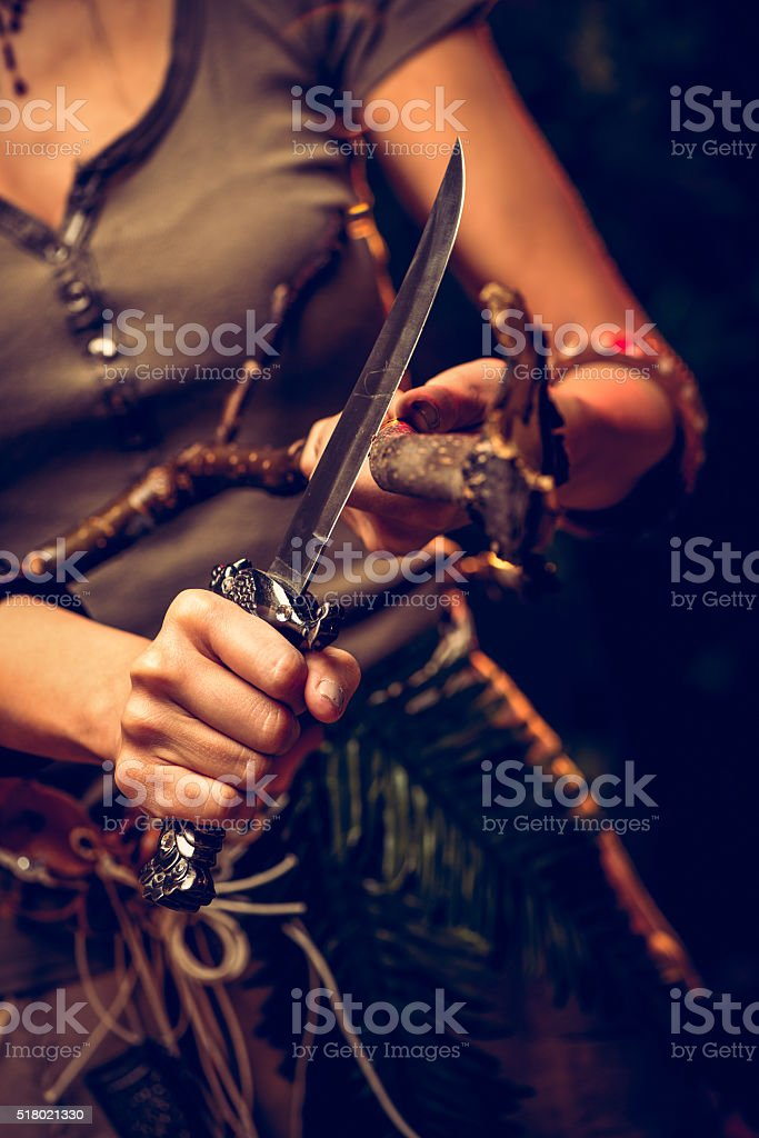 Mulher guerreira - foto de acervo
